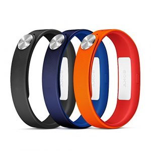 Sony-Mobile-SmartBand-Wrist-Straps-Armbnder-Large-A1-in-3er-Pack-RotBlauSchwarz-0